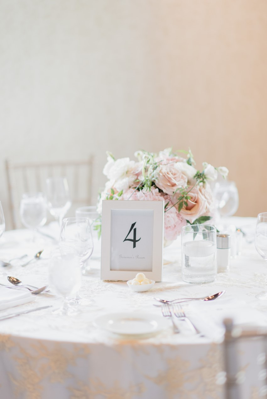 Romantic Blush Pink Wedding Reception