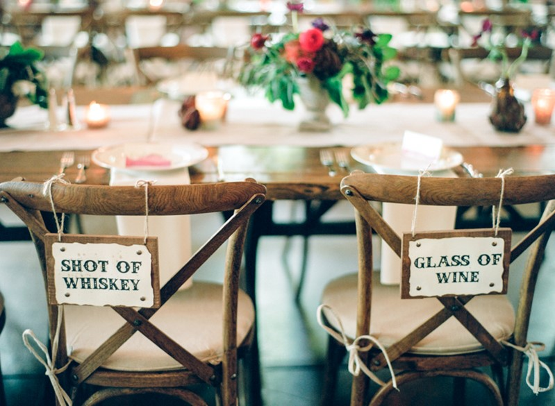 Rustic Vintage Wedding Chair Signs
