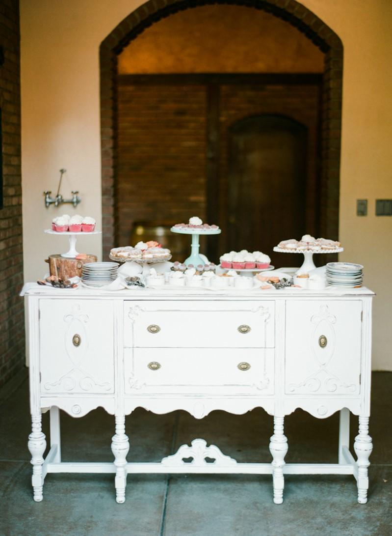 Boho Vintage Wedding Dessert Table