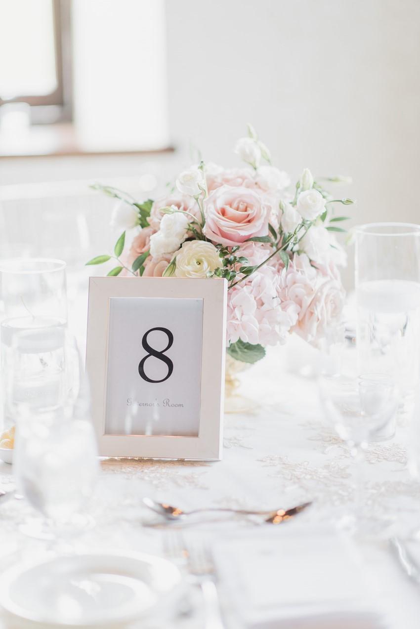 Romantic Blush Pink Wedding Reception