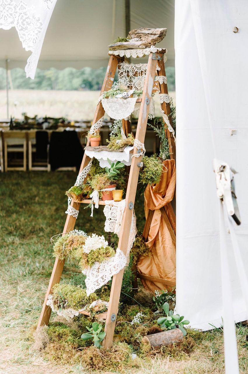 Boho Vintage Marquee Wedding Decor