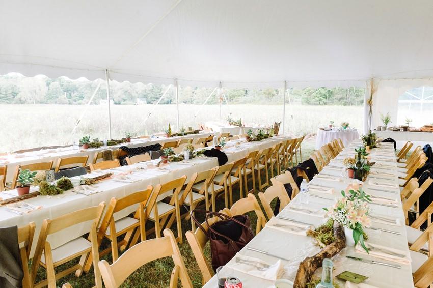 Boho Vintage Marquee Wedding Reception