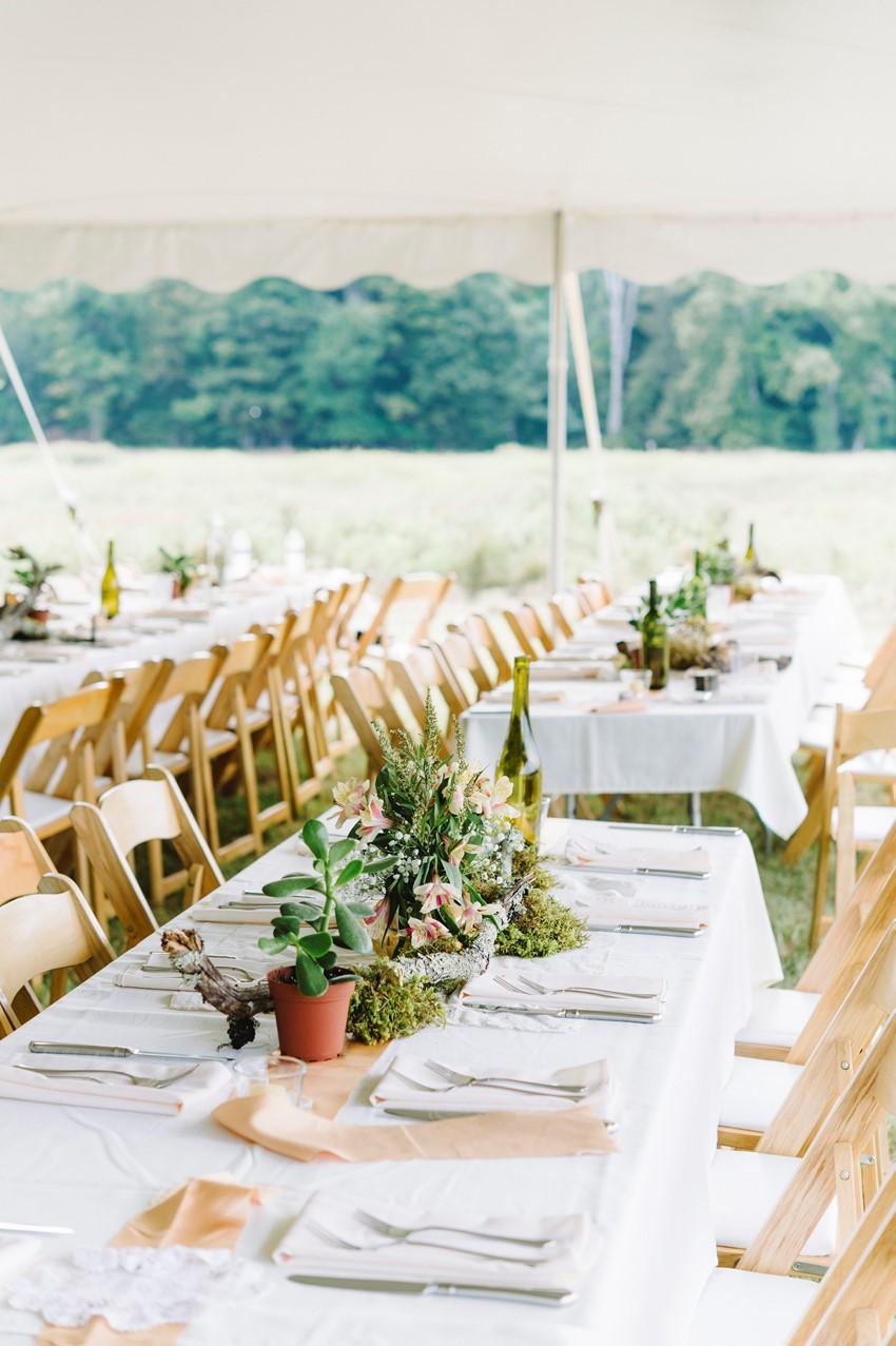 Boho Vintage Marquee Wedding Tablescape