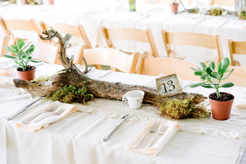 Boho Vintage Marquee Wedding Table Number