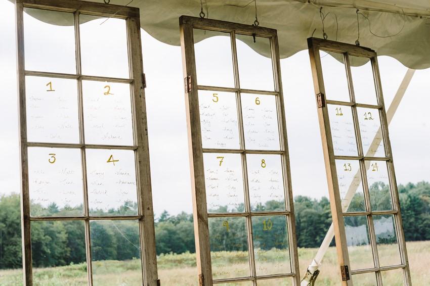 Vintage Windows Wedding Seating Chart