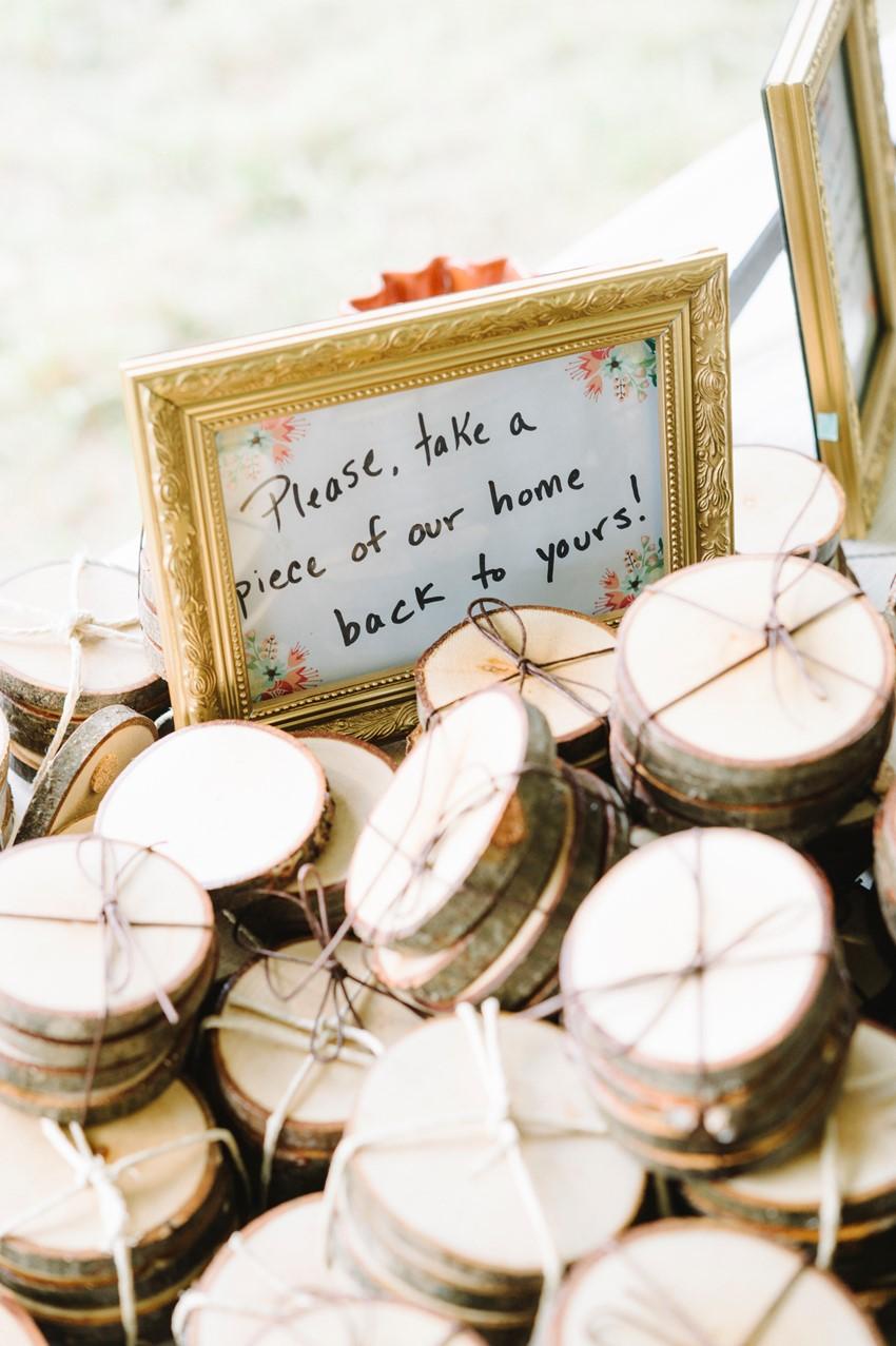 Rustic Wooden Coasters Wedding Favors