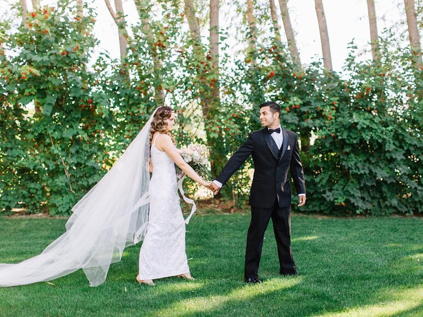 Romantic Modern Vintage Garden Wedding