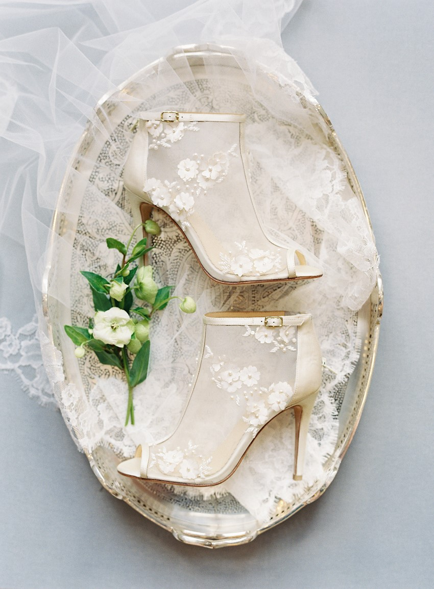 Gold Lace Bridal Booties
