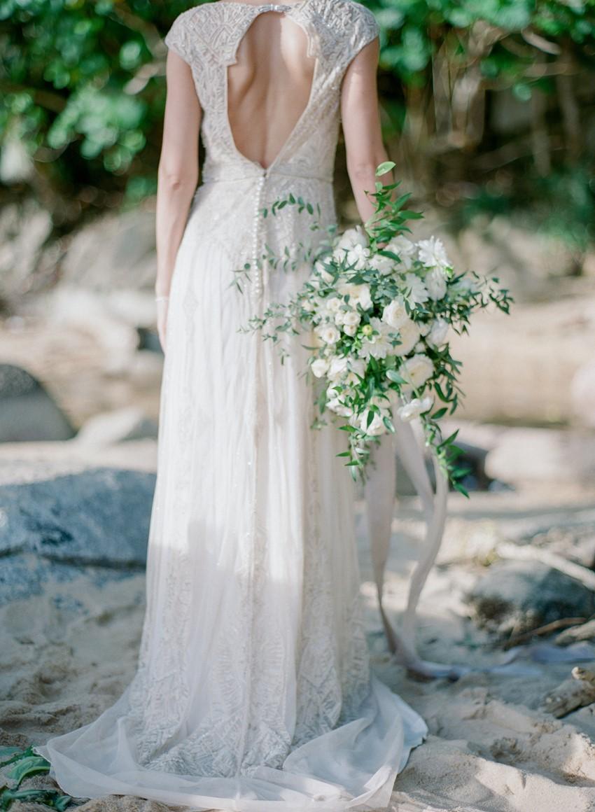 Vintage Bride & Greenery Bridal Bouquet