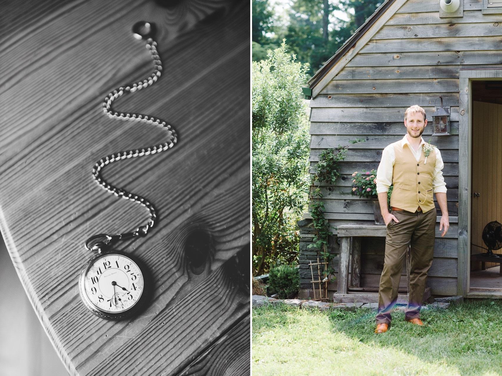Vintage Groom & Pocketwatch