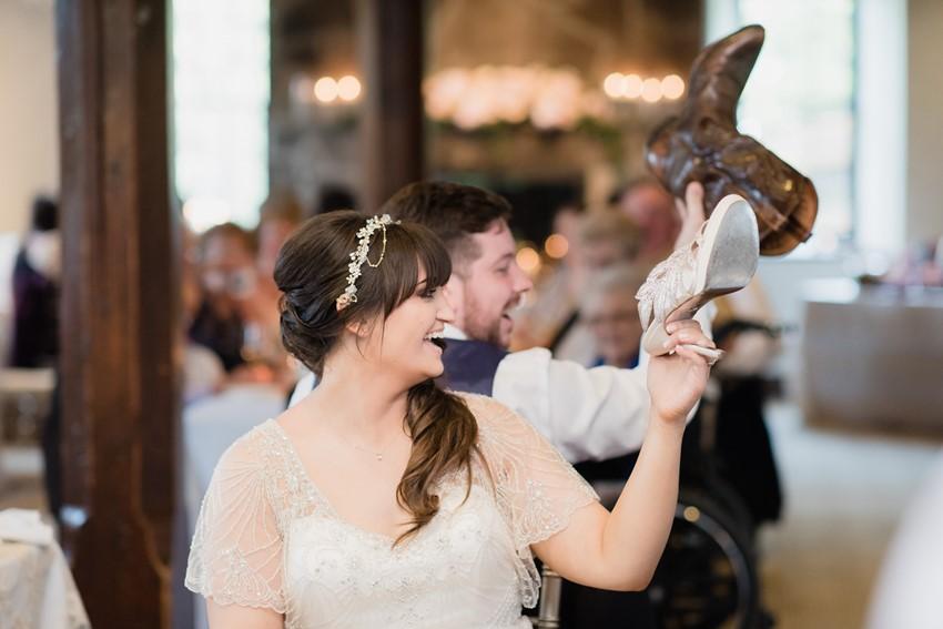 Romantic Pink & Navy Wedding Reception