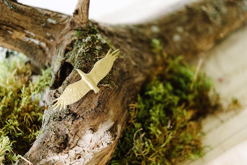Woodland Themed Wedding Centerpiece