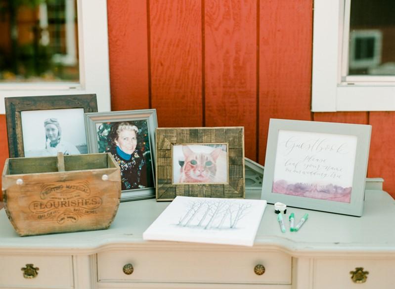 Boho Vintage Wedding Remembrance Table