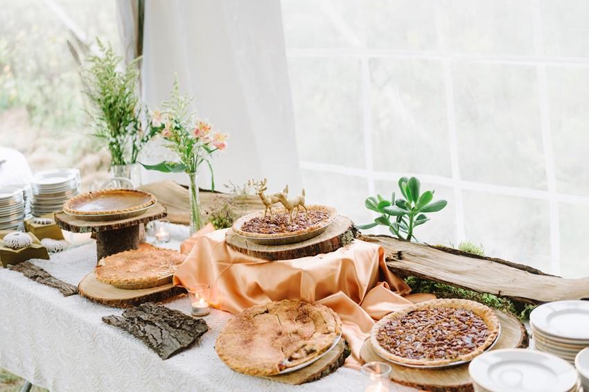 Woodland Wedding Themed Dessert Table