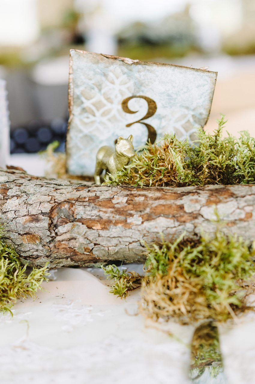 Gold Animal Wedding Centerpieces