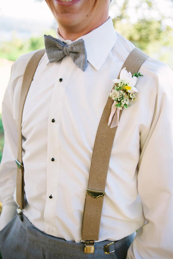 Rustic Vintage Groom Suspenders
