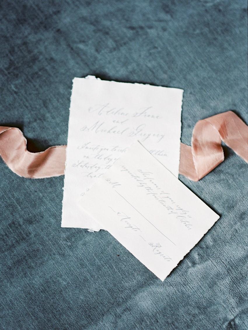 Romantic Calligraphy Wedding Invitation