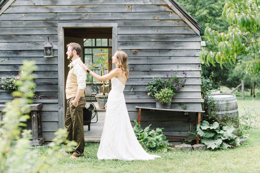 Woodland Themed Wedding First Look