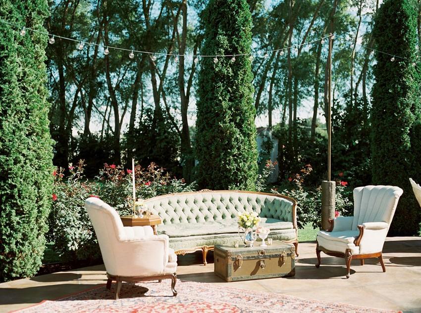Wedding Reception Lounge Vintage Velvet Sofas