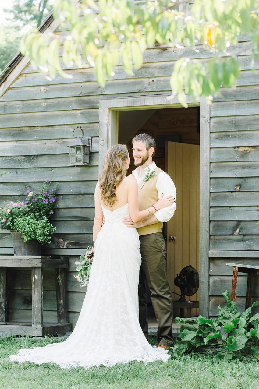 Woodland Themed Wedding First Look