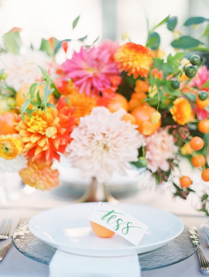 Citrus Wedding Place Setting