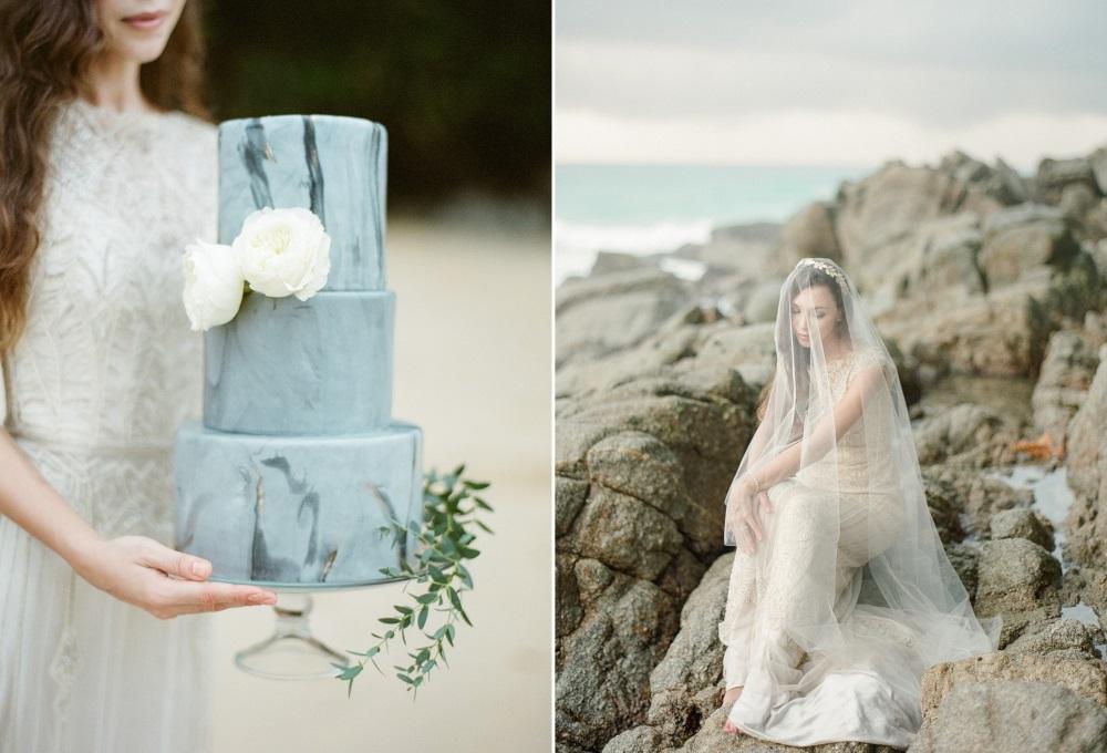 Dreamy Beach Elopement Wedding Cake