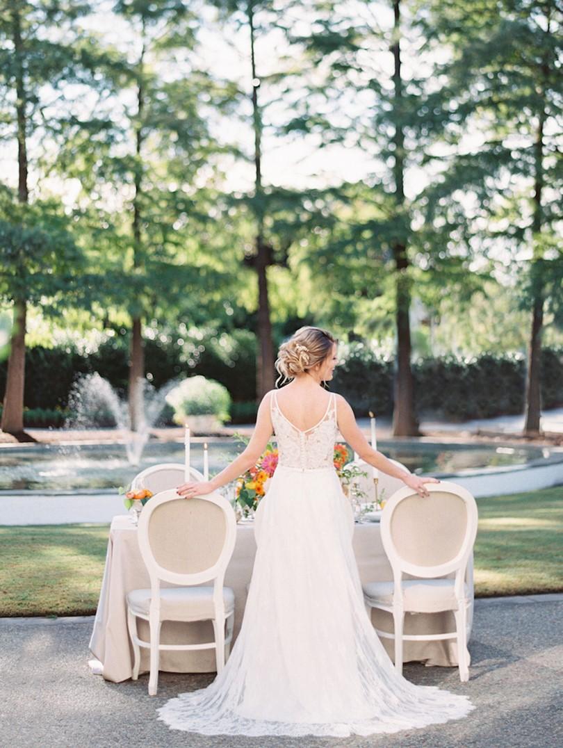 Spring Garden Wedding Reception in Citrus Colors