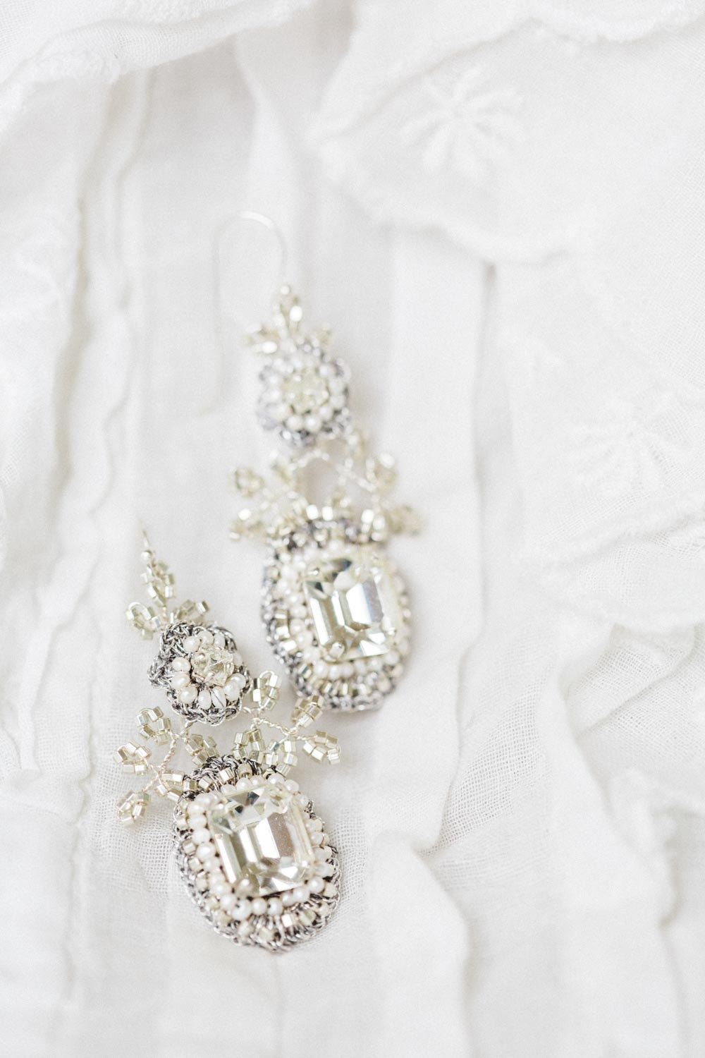 Victorine Bridal Earrings from Edera Jewelry