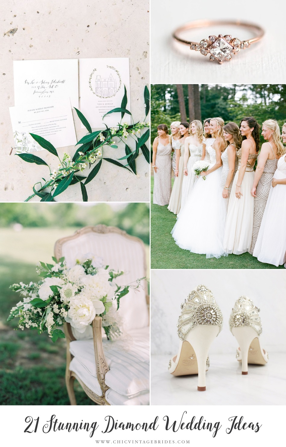 Stunning Diamond White Wedding Ideas