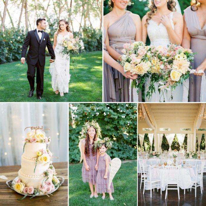 A Romantic Garden Wedding with a Vintage Tea Party Reception