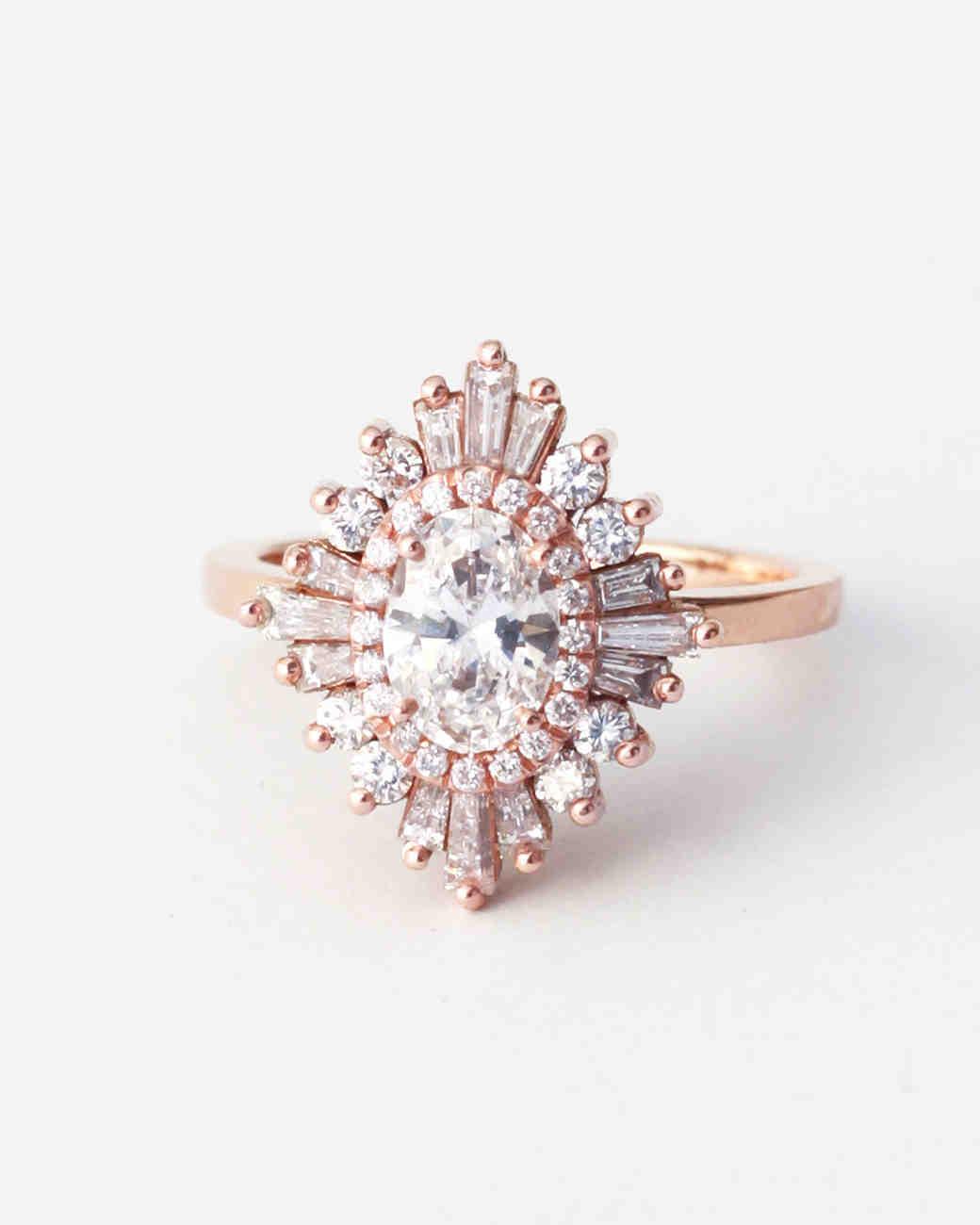 Heidi Gibson Oval Diamond Art Deco Engagement Ring