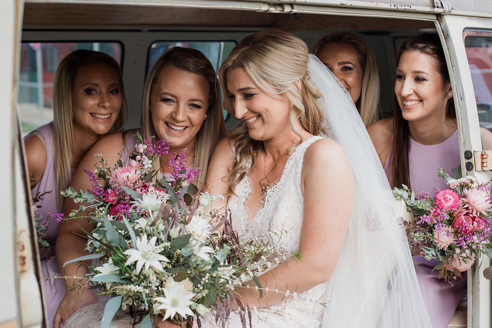 Rustic Vintage Bride & Bridesmaids