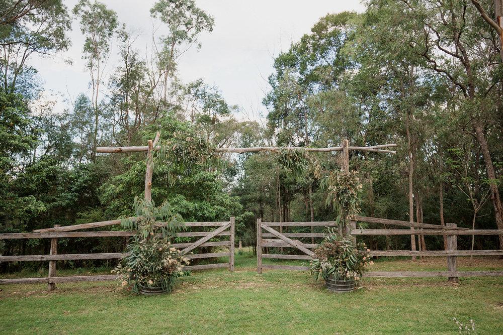 Rustic DIY Wedding Ceremony Aisle Arch