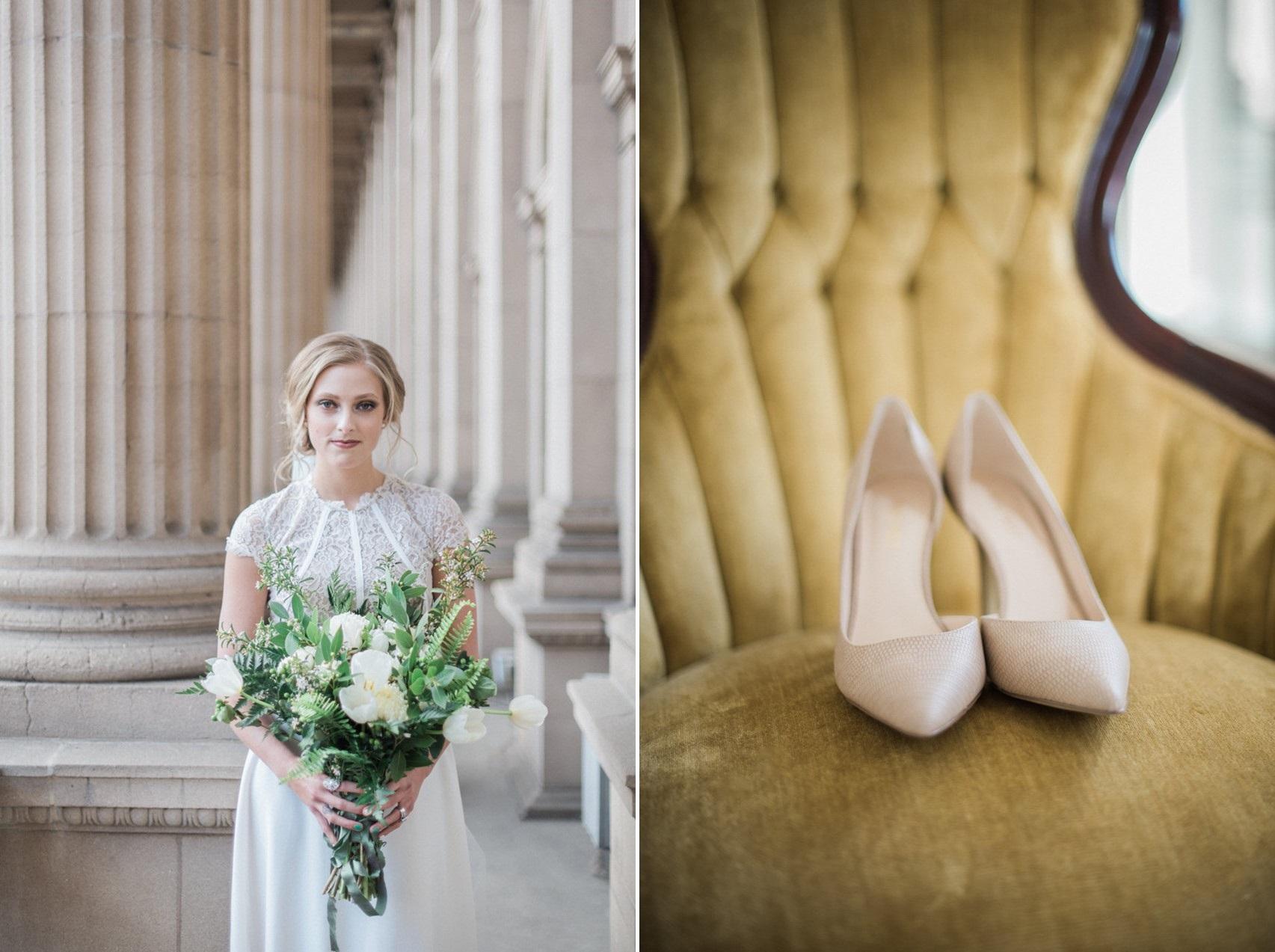 Greenery Vintage Bride & Bridal Shoes