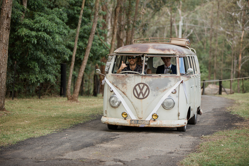 Vintage VW Camper Van Wedding Transport