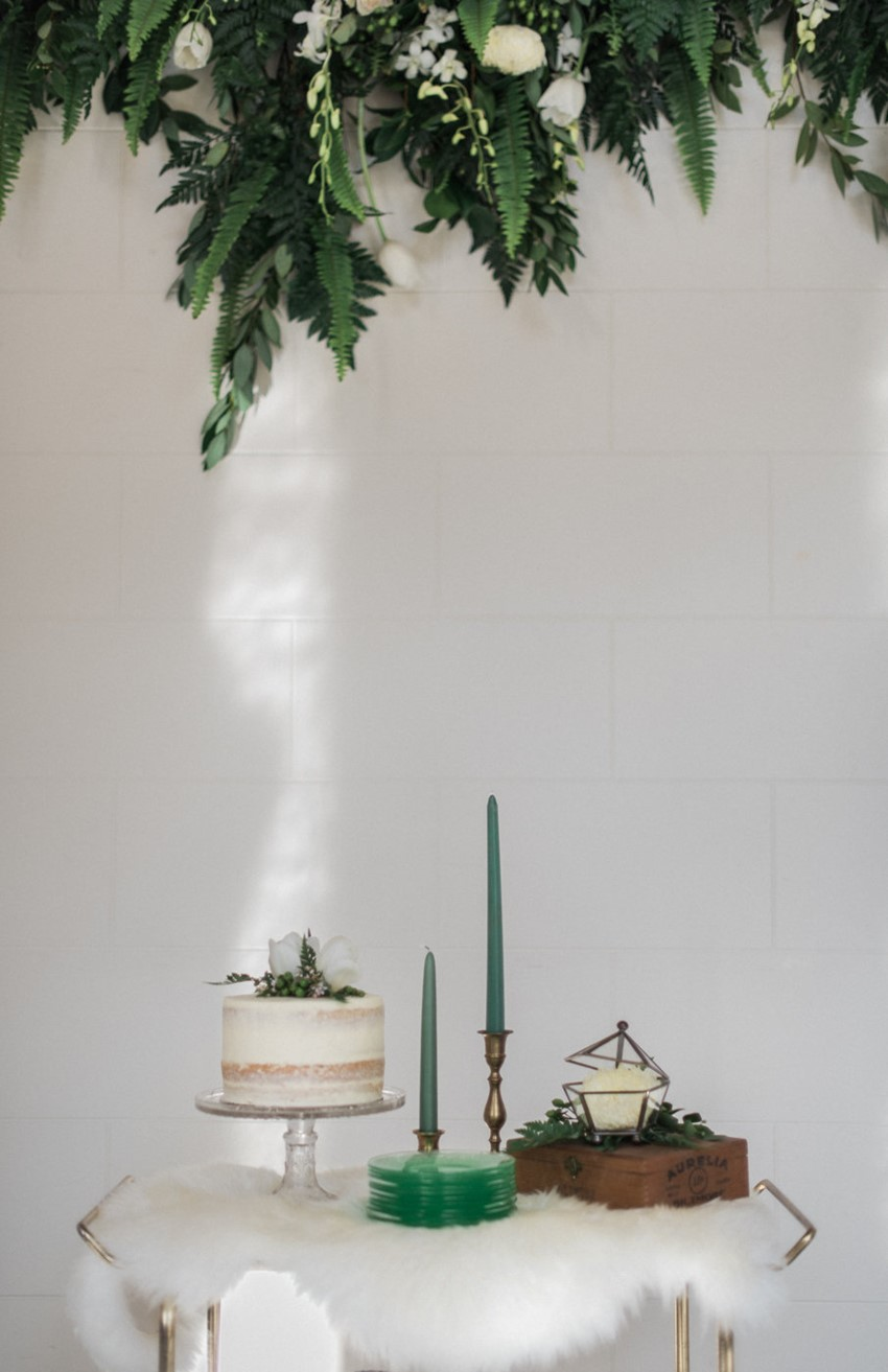 Greenery Wedding Cake Table