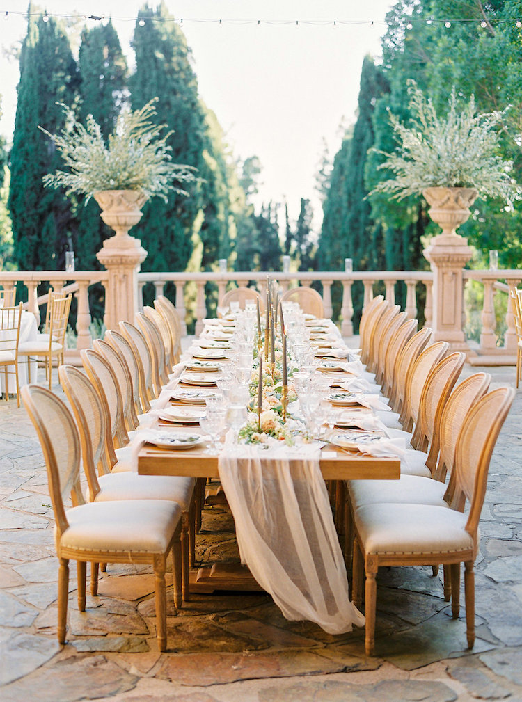 Elegant Outdoor Villa Wedding Reception