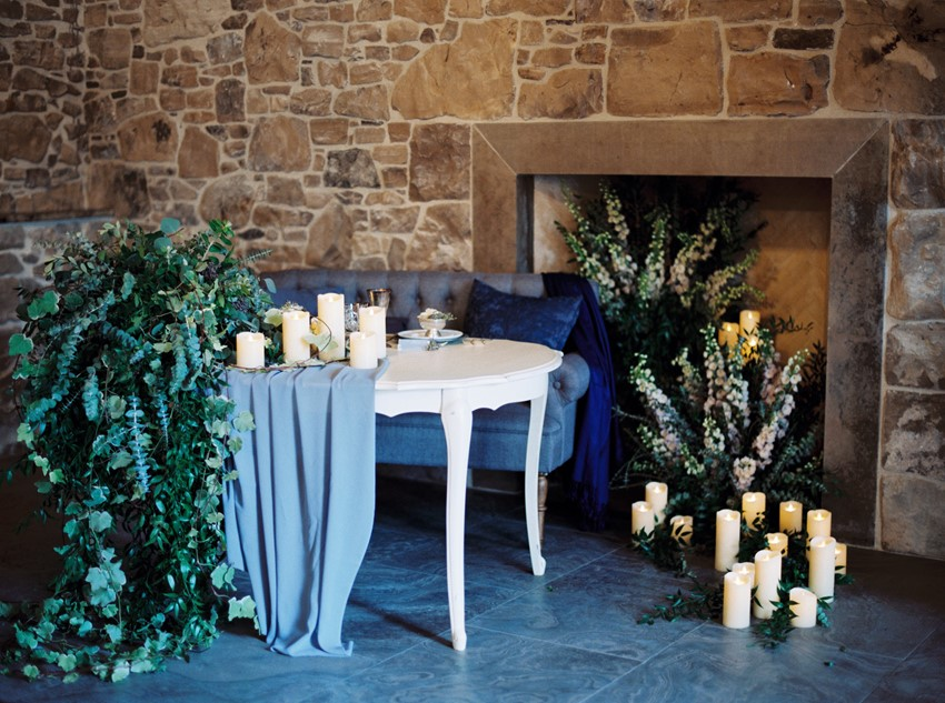 Romantic Candelit Wedding Tablescape
