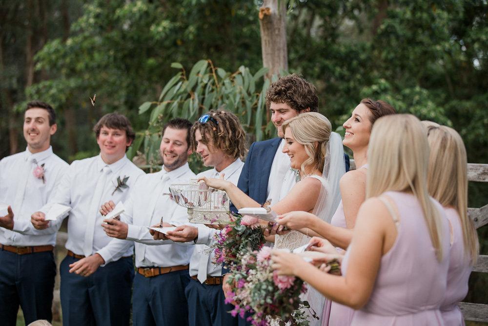 Monarch Butterflies at a Wedding