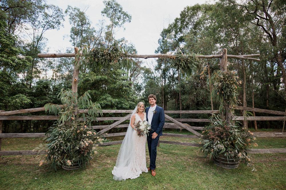 Rustic Vintage Garden Wedding Ceremony