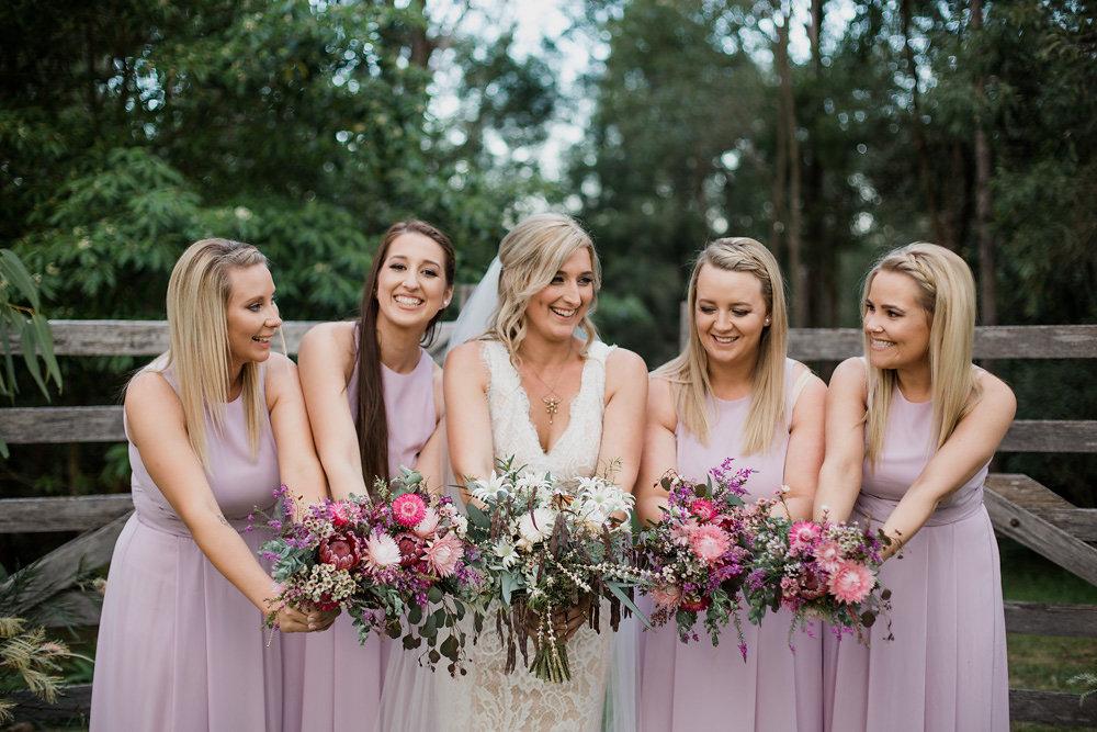 Bride & Lilac Bridesmaids