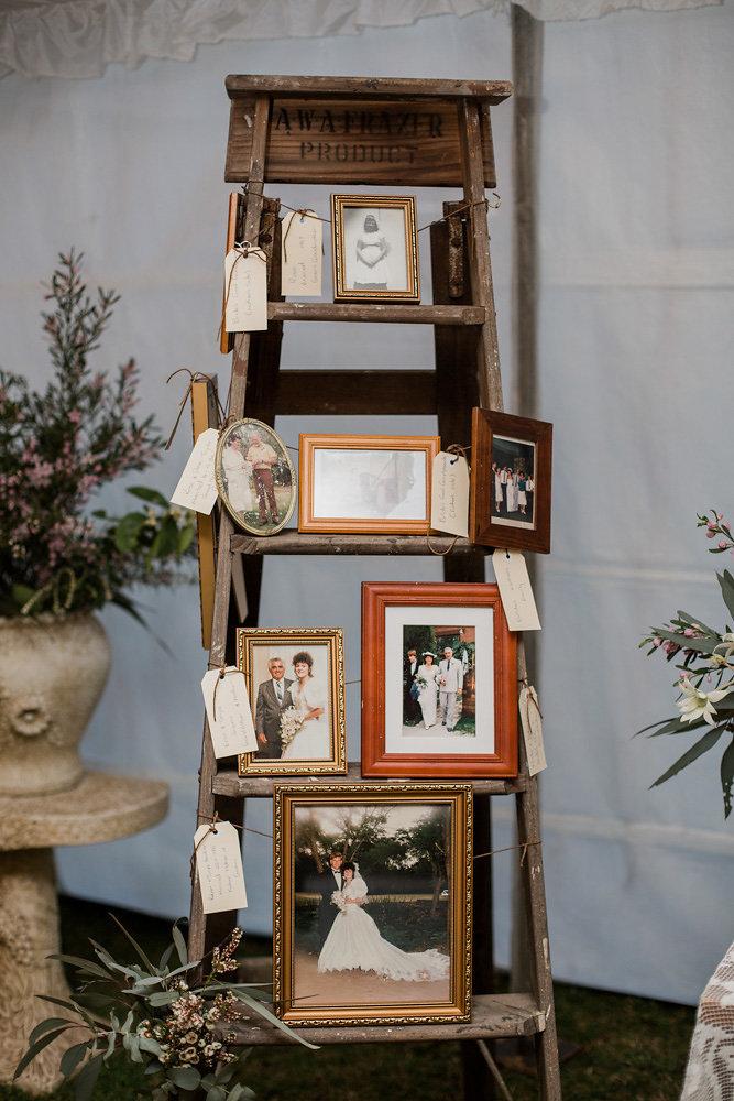 Rustic Vintage Marquee Wedding Reception Decor