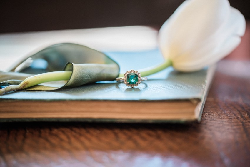 Emerald Vintage Engagement Ring