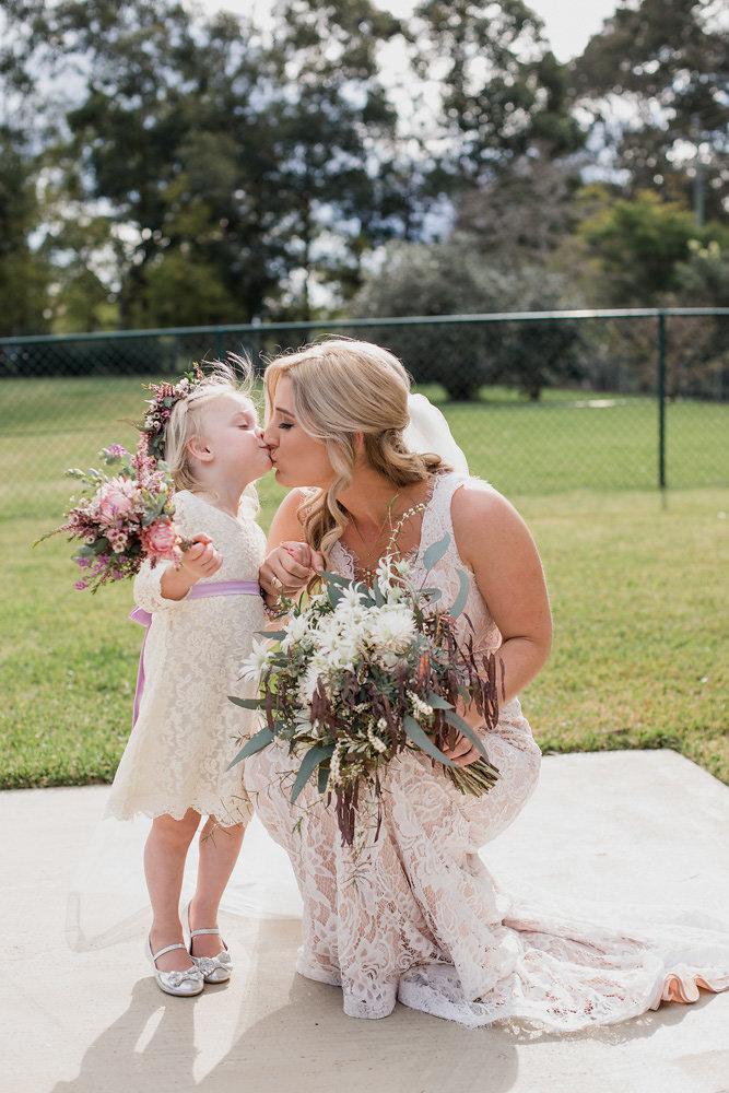 Sweet Bride & Flower Girl Photo