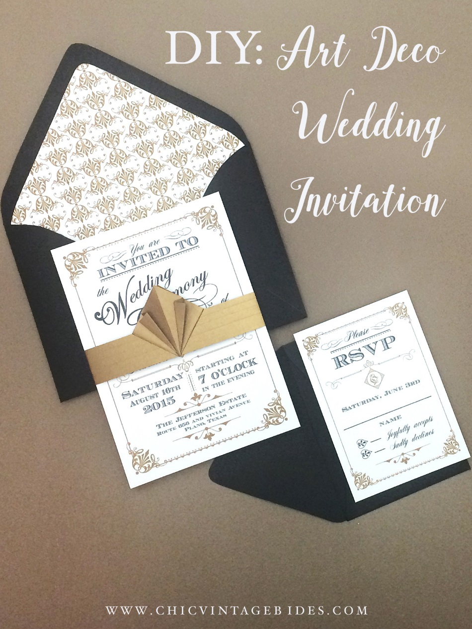 DIY Art Deco Wedding Invitation