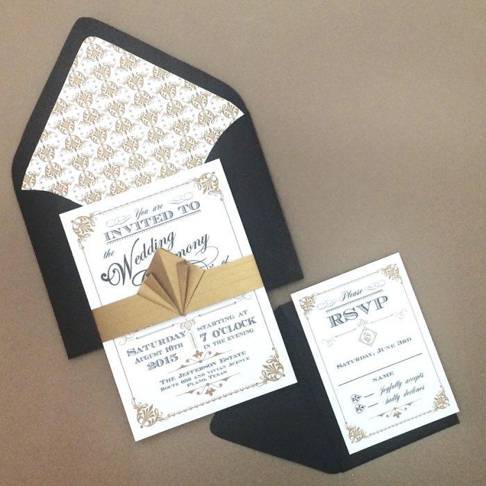 DIY Art Deco Wedding Invitation