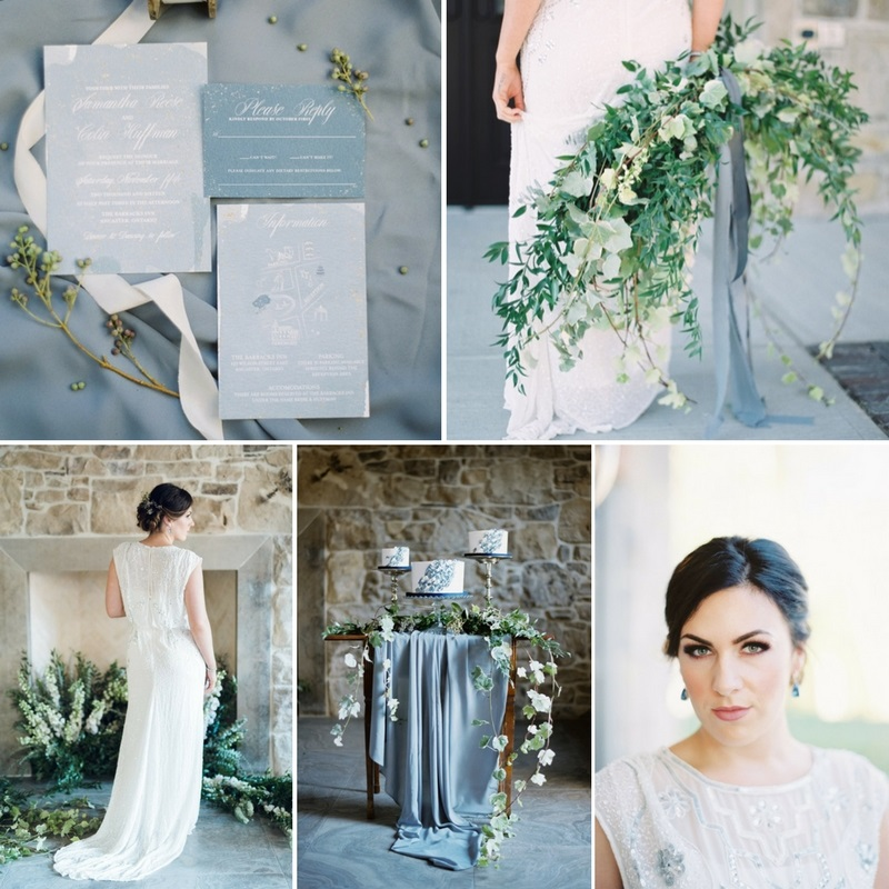 Romantic Blue & Greenery Wedding Inspiration at The Barracks Inn