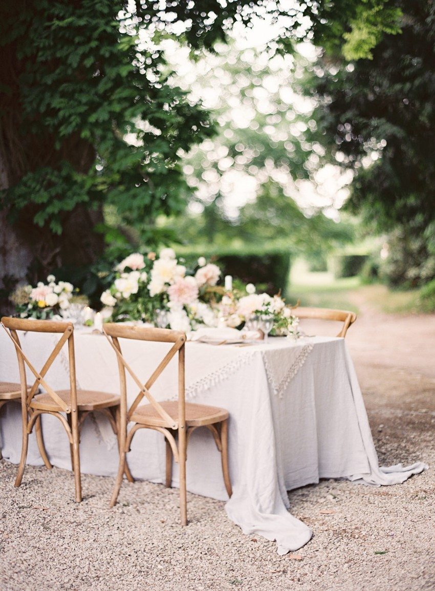 Modern Vintage Outdoor Wedding Reception