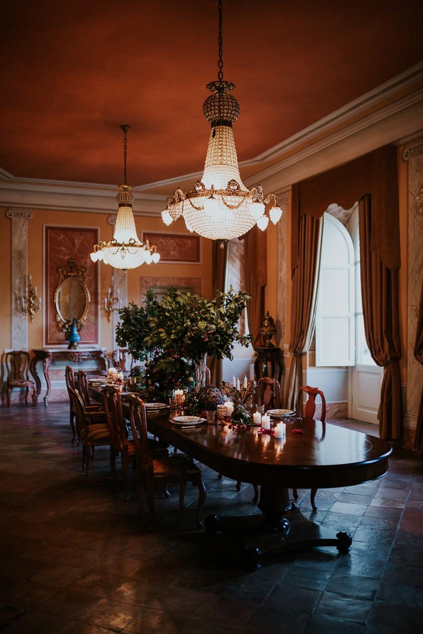 Dark & Decadent Historic Wedding Tablescape