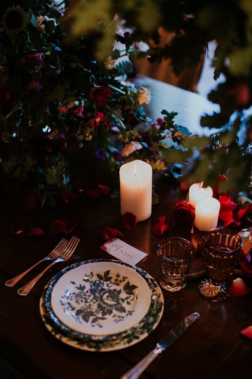Decadent Vintage Wedding Place Setting
